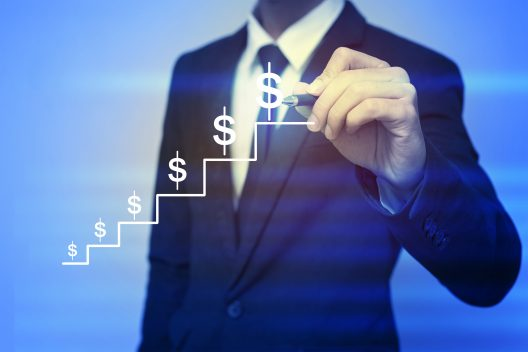 Closeup image of businessman drawing  graph,business strategy as